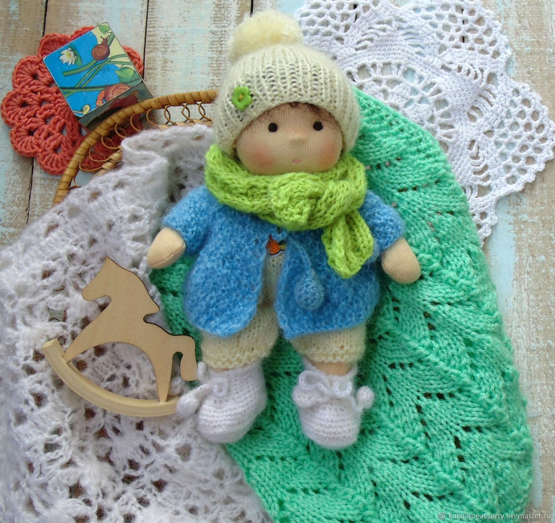 Вальдорфская кукла Пузырек 17 см, Вальдорфские куклы и звери, Екатеринбург,  Фото №1