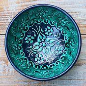 Посуда ручной работы. Ярмарка Мастеров - ручная работа Керамическая пиала маленькая (зеленая). Handmade.