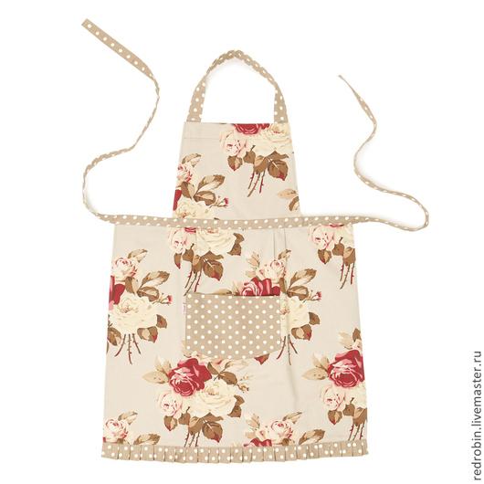 """Кухня ручной работы. Ярмарка Мастеров - ручная работа. Купить Фартук """"Люсиль"""" (крупные розы). Handmade. Бордовый, стильный фартук"""