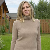 Одежда handmade. Livemaster - original item Sweater from angori 90 Warm Taupe. Handmade.