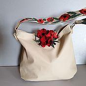 Сумки и аксессуары handmade. Livemaster - original item Bag leather women`s crossbody bag hobo Maki milk. Handmade.