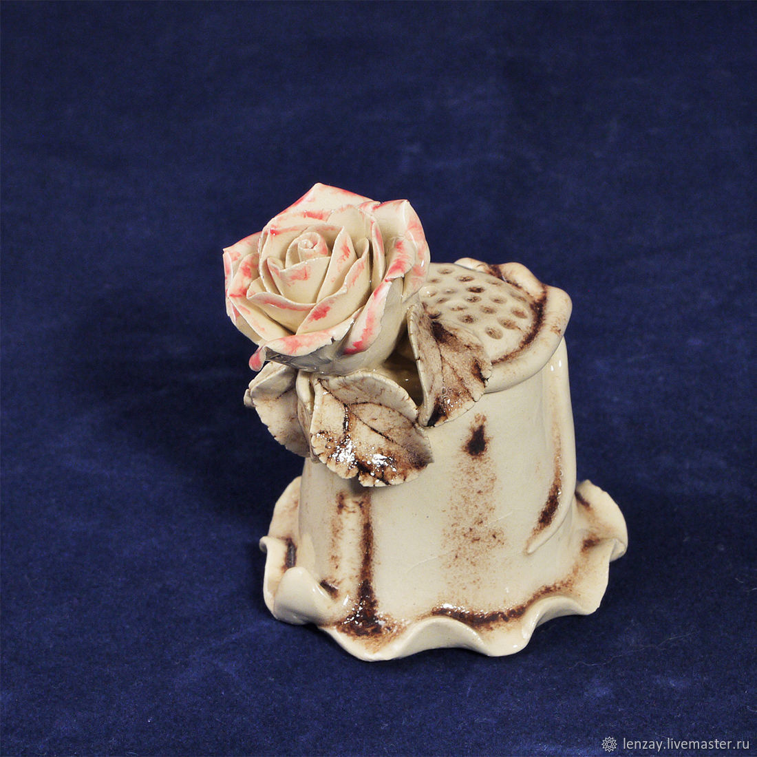 Collector's thimble rose in Sepia, Thimbles, Moscow,  Фото №1