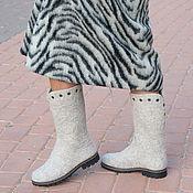 """Обувь ручной работы. Ярмарка Мастеров - ручная работа Валяные сапоги """"Зимушка"""". Handmade."""