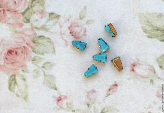 Для украшений ручной работы. Ярмарка Мастеров - ручная работа. Купить Винтажные кристаллы Swarovski цвет бирюзовый. Handmade. Кристаллы