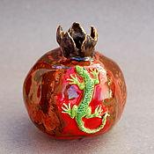 Для дома и интерьера handmade. Livemaster - original item Garnet and lizard. Vase. Handmade.
