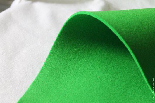 Валяние ручной работы. Ярмарка Мастеров - ручная работа. Купить Фетр 3 мм. Ярко-зеленый(Испания). Handmade. Фетр