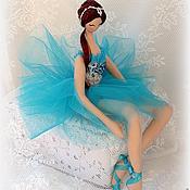 Куклы и игрушки ручной работы. Ярмарка Мастеров - ручная работа Балерина в бирюзовом. Handmade.