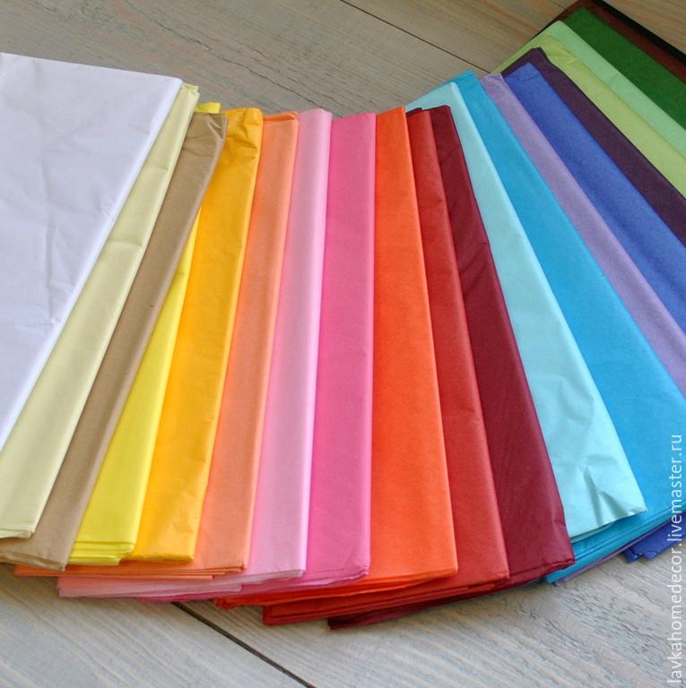 Тишью бумага папиросная 10л, 21 цвет
