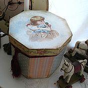 Для дома и интерьера ручной работы. Ярмарка Мастеров - ручная работа Большой короб Любимая кукла. Handmade.