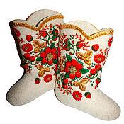 Обувь ручной работы. Ярмарка Мастеров - ручная работа Валенки Русские узоры. Handmade.
