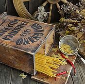 Для дома и интерьера ручной работы. Ярмарка Мастеров - ручная работа «PASTA» Мини-комод для спагетти /массив сосны/. Handmade.