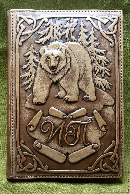 "Leather notebook ""WILD BEAR"", Diaries, Krivoy Rog,  Фото №1"