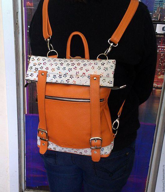 Рюкзаки ручной работы. Ярмарка Мастеров - ручная работа. Купить Рюкзак-сумка 84. Handmade. Комбинированный, рюкзак ручной работы