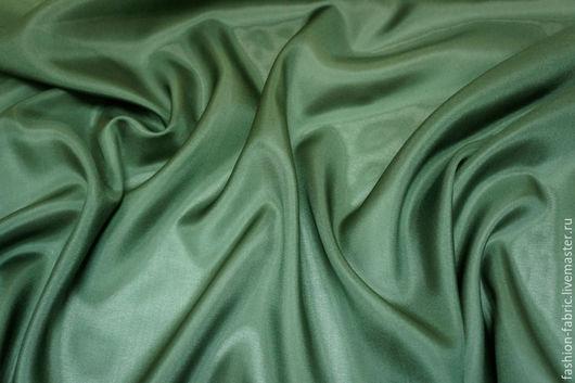 Шитье ручной работы. Ярмарка Мастеров - ручная работа. Купить Ткань Шелк подкладочный зеленый PRT 16081605 Италия Цена за метр. Handmade.