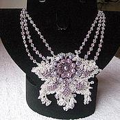 Украшения handmade. Livemaster - original item Pearl flower. Handmade.