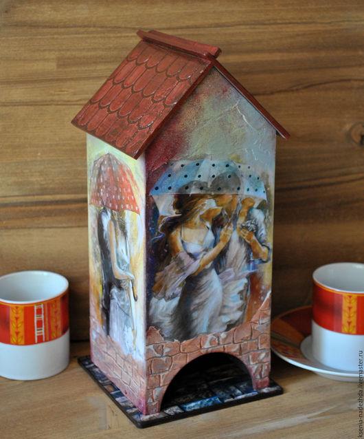 """Кухня ручной работы. Ярмарка Мастеров - ручная работа. Купить Чайный домик """"Двое под зонтом"""". Handmade. Чайный домик"""