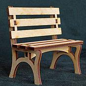 Материалы для творчества ручной работы. Ярмарка Мастеров - ручная работа Скамейка из фанеры - кукольная мебель. Handmade.