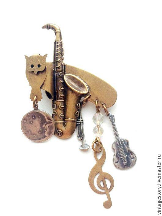 """Винтажные украшения. Ярмарка Мастеров - ручная работа. Купить Susan L Richardson Винтажная брошь """"Музыкальная"""", США. Handmade."""