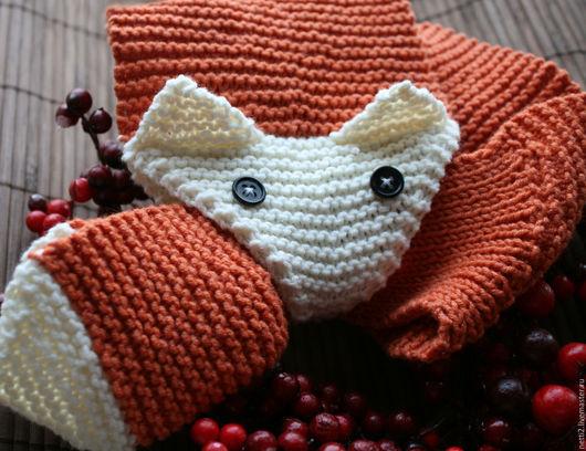 Шарфы и шарфики ручной работы. Ярмарка Мастеров - ручная работа. Купить Шарф лисичка. Handmade. Рыжий, шарф детский, милый