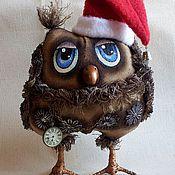 Куклы и игрушки ручной работы. Ярмарка Мастеров - ручная работа Новогодний филин.. Handmade.