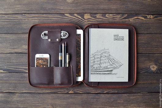 """Для телефонов ручной работы. Ярмарка Мастеров - ручная работа. Купить Папка-органайзер на молнии для iPad Pro 9.7"""". Handmade."""