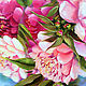 White and red peonies oil painting. Pictures. positive picture Helena Gold. My Livemaster. Фото №4