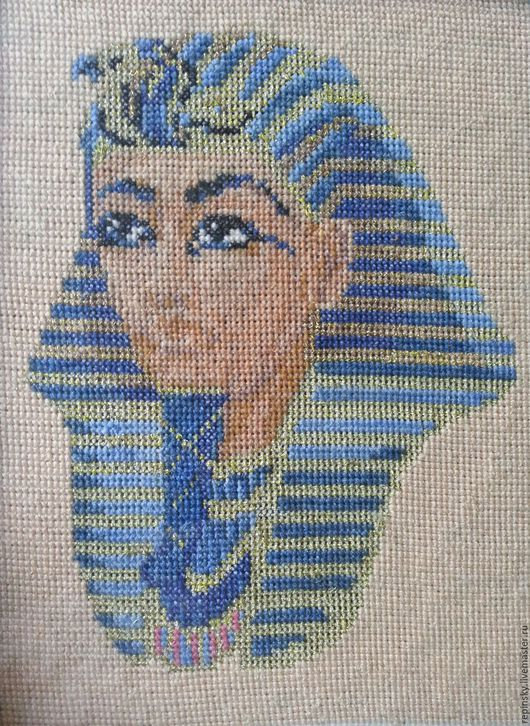 Люди, ручной работы. Ярмарка Мастеров - ручная работа. Купить Фараон Тутанхамон. Handmade. Комбинированный, фараон, египетский стиль, синий