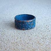 Украшения ручной работы. Ярмарка Мастеров - ручная работа Медное кольцо Ультрамарин. Кольцо из меди синяя патина. Handmade.