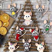Приколы ручной работы. Ярмарка Мастеров - ручная работа Новогодние мыши. Handmade.
