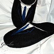 """Обувь ручной работы. Ярмарка Мастеров - ручная работа Тапки """"Галстук"""". Handmade."""