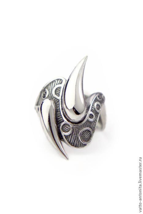 Кольца ручной работы. Ярмарка Мастеров - ручная работа. Купить Капли Дождя - крупное кольцо из серебра. Handmade. Крупный перстень