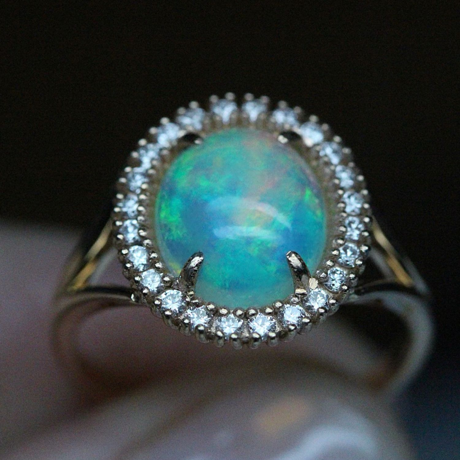 'Empress' ring with Opal and diamonds 5, Rings, Moscow,  Фото №1