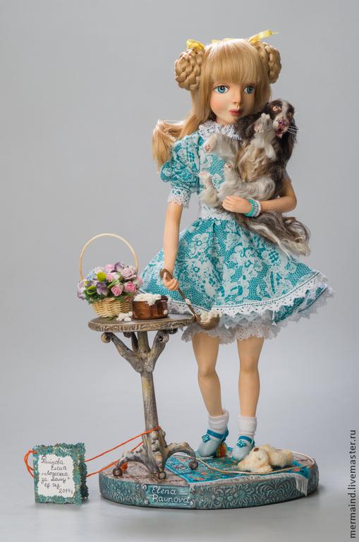 Коллекционные куклы ручной работы. Ярмарка Мастеров - ручная работа. Купить Ложечка за маму. Handmade. Тёмно-бирюзовый, средневековье
