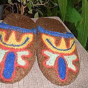"""Обувь ручной работы. Ярмарка Мастеров - ручная работа Тапки-шлепки мужские """"Хан"""". Handmade."""