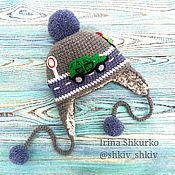 """Работы для детей, ручной работы. Ярмарка Мастеров - ручная работа Зимняя шапка """"Зелёный джип"""".крючок.. Handmade."""