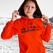 Одежда handmade. Livemaster - original item Women`s sweatshirt orange, cool, bright hoodie. Handmade.