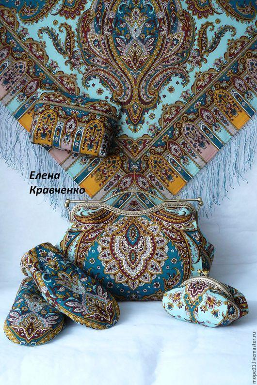 Одежда сумки и аксессуары из Павловопосадских платков