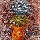 Абстракция ручной работы. Картина. Зимняя городская роза. Масло, холст на карт., мастихин, 18х24. Ершова (Ershova) Марина (Marina):). Ярмарка Мастеров.