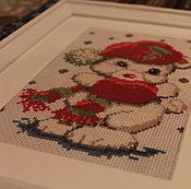 Картины и панно ручной работы. Ярмарка Мастеров - ручная работа Зимняя,  детская вышивка. Handmade.