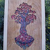 """Картины и панно handmade. Livemaster - original item Wood Watercolor Wall Art """" Lifetree """",Tree Art,Nursery Wall Art. Handmade."""