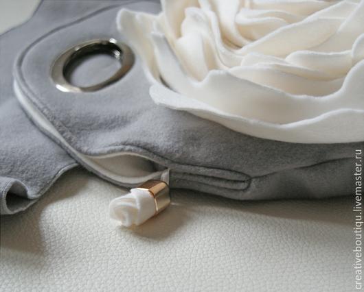 Женские сумки ручной работы. Ярмарка Мастеров - ручная работа. Купить сумка Нежность Продана. Handmade. Серый, сумка с розой