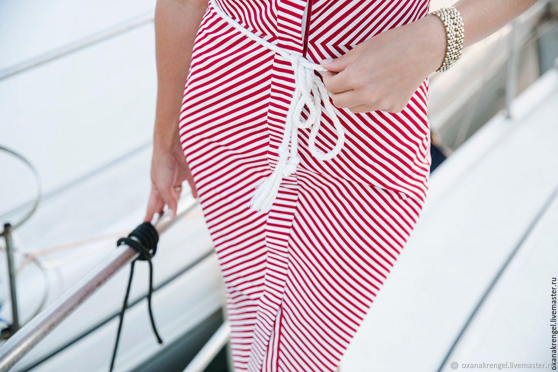 645d8cb6e2f08b6 Интернет- Платья ручной работы. Заказать Платье в красно-белую полоску.  Oxana Krengel.