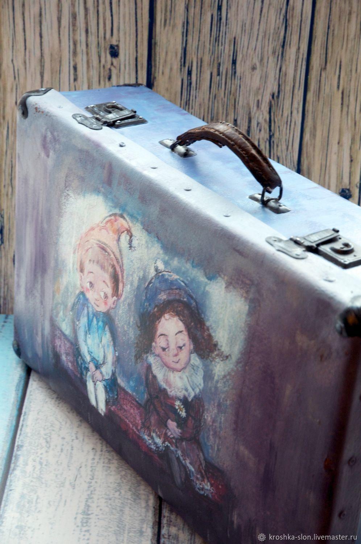 Ярмарка · Чемоданы ручной работы. Большой старый чемодан. Татьяна Косова  (tatyanakosova). Ярмарка Мастеров ... 90b3ea1d23e