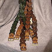 Аксессуары ручной работы. Ярмарка Мастеров - ручная работа ремень из листьев. Handmade.