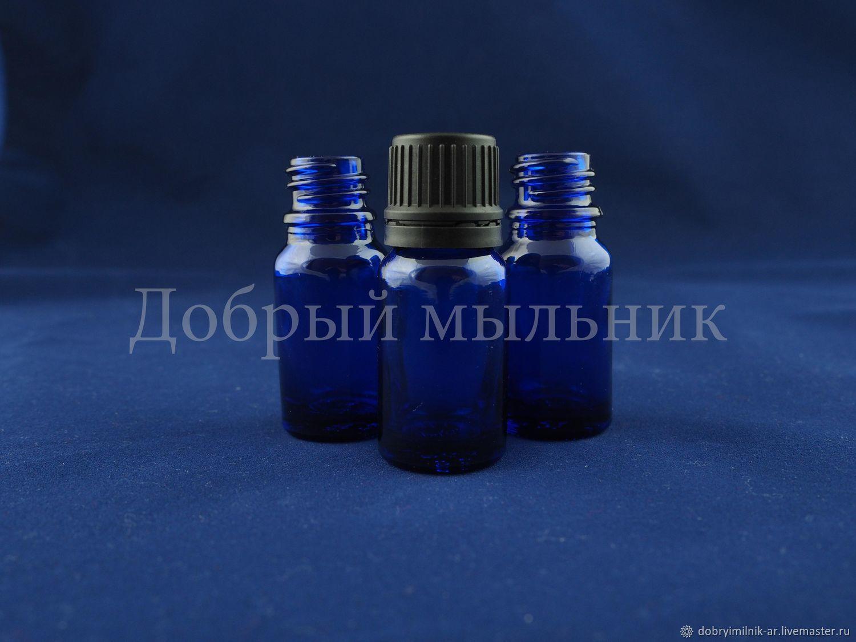Флакон 10 мл стекло синий, Флаконы, Москва,  Фото №1