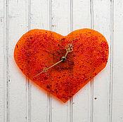 Часы ручной работы. Ярмарка Мастеров - ручная работа часы Аmore. Настенные часы. Часы сердце. Фьюзинг.. Handmade.