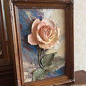"""Картины и панно ручной работы. Ярмарка Мастеров - ручная работа Картина объемная """"Роза"""". Handmade."""