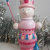 Подарки к праздникам handmade. Livemaster - original item Snowman with Christmas tree. Christmas wooden souvenir.. Handmade.