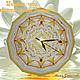 Часы для дома ручной работы. Ярмарка Мастеров - ручная работа. Купить Настенные часы авторские мандала «Золотое сияние Будды» Звезда желтый. Handmade.