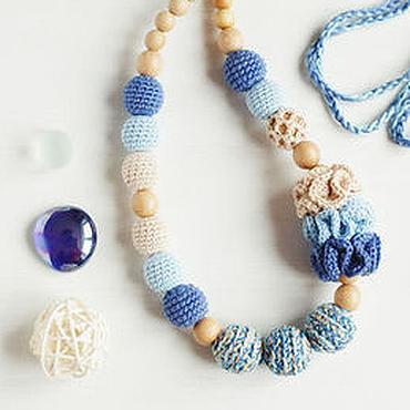 """Одежда ручной работы. Ярмарка Мастеров - ручная работа Слингобусы """"Джинс+беж"""" синий голубой бежевый. Handmade."""